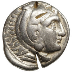 Celtic imitation - Alexandre III. the Great (~200 BC) AR Tetradrachme, torch