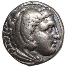 Ancient Greece – ALEXANDER III the Great (~336-323 BC) AR TETRADRACHM, Amphipolis, torch - 315-294 BC