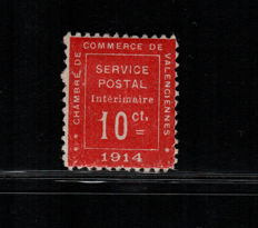 France 1914 - War stamps and Strike stamps - Yvert 1 y strike stamps 2/3