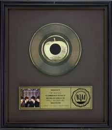 "The Beatles - Official RIAA Award - For the sale of multi million copies of ""I want to hold your hand"""