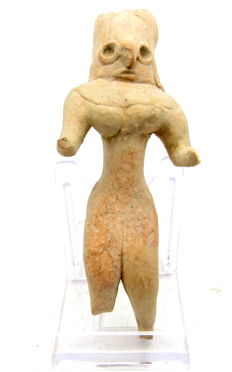Indus Valley Terracotta Standing Female Idol  / Figurine  - 107mm