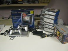 Sony playstation 2 including 2 controllers , memo card , eye toy 3 game pack and 20 other games.