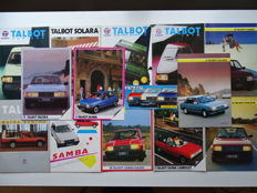 1980 - 1985 - TALBOT Samba Rallye, Solara, Tagora, Horizon, Matra Rancho, etc - Mixed lot of 14 original sales brochures