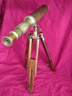 Vintage marine telescope in bronze