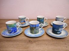 Goebel, Claude Monet and Renoir  6 small cups and saucers
