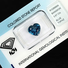London Blau Topaz – 3.67 ct No Reserve Price