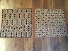 Lots of 2 ancient traditional textiles - KUBA / SHOOWA - D.R of Congo