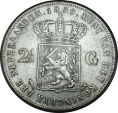 The Netherlands, 2½ guilders 1859 Willem III