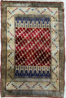 Turkish Silk Hereke c. 122x80cm