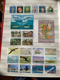 Marshall, Micronesia, Palau, from 1984 to 1991, independence stamps