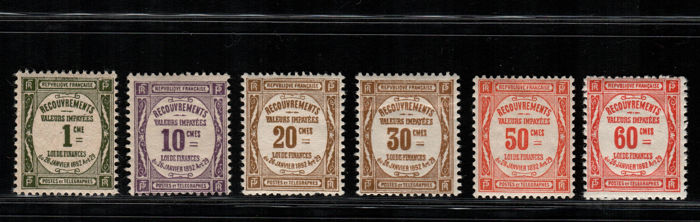 France 1927-1931 - Tax - Yvert numbers 43/48