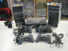 Sony playstation 1 including 30 complete ps1 games like: Rally ,need for speed 2+3, Charmageddon , Porsche and more