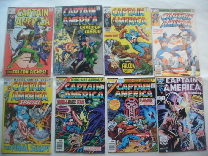 Marvel Comics - Captain America #118, 120, 126, 241, Special #2, Annual #3, 4 and 8. - Final Silver Age Issue - 8x sc (1969/1986)