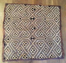 Very Beautiful ancient traditional textile - SHOOWA - D.R of Congo