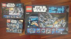 Star Wars - 75147 + 75132 + 75128 - StarScavenger + The advanced Prototype +  First Order Battle Pack