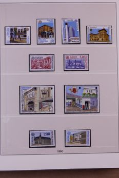Europa Stamps 1990/1993 - Complete collection in Lindner Falzlos T-type preprint album