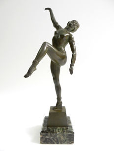 Adam Féron - Bronze sculpture of a dancer - Art Deco