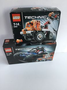 Technic - 9390 + 42010 - Mini Tow Truck + Off Road Racer