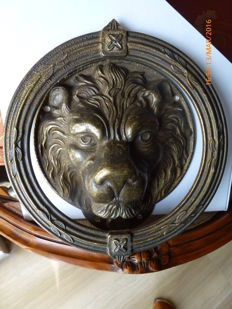 Large Scandinavian bronze door knocker - Scandinavian workmanship