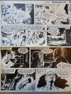 Original Art Page By Jesús Blasco - Valiant - The Steel Claw - Page 3478 - (1965)