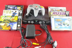 Nintendo 64 Console with 6 games eg 1080, Wave Race 64 V-Rally 99 and more