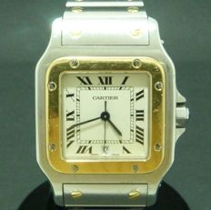 Cartier - SANTOS XL Gold and Steel - 1566 - Men's - 2000-2010