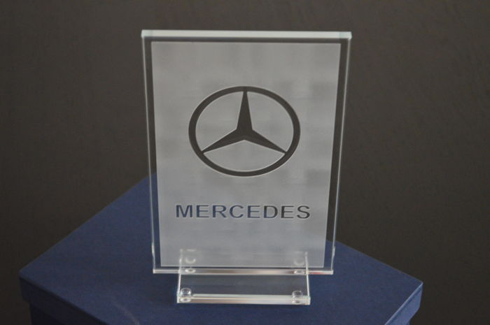 Mercedes-Benz original Dealer Desk Display from the 1960s / Werbung /Reklame