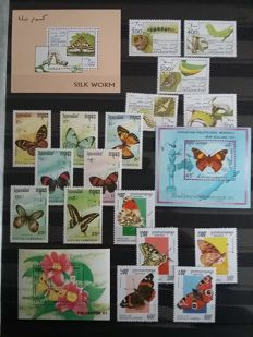 Thematic flora and insects 1960/2000 – Theme collection in stock book