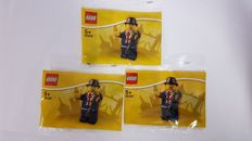3 x Lester mini Figure– 40308 LEGO Store Exclusive Set, from Leicester Square, London