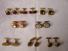 8 Pairs of vintage Men's cufflinks as from ca. 1920's