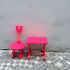 Luciano Biscarini - Children's chair and table