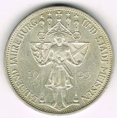 Weimar Republic - 3 Reichsmark 1929 E 1 000th Anniversary of the Founding of the city of Meissen - silver