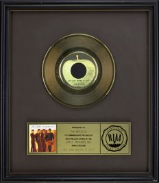 """The Beatles - Official RIAA Award - For the sale of multi million copies of """"We can work it out"""""""