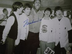 Unknown - Muhammad Ali signed photo with The Beatles+ COA's