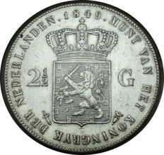 The Netherlands - 2½ guilders 1849 Willem II - silver