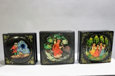 Russian hand-painted lacquer boxes