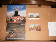 Belgium and the Netherlands - lot of 2 cases 2015 'Waterloo' and 2 coincards 'on the 200th anniversary of the Battle of Waterloo'