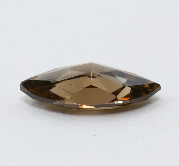 Diamond, natural fancy deep brown, 0.31 ct, with IGI certificate