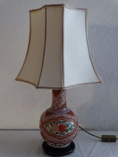 Table lamp on Famille Verte craquelure vase - porcelain - China - early 20th century