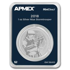 Niue - $2 - Star Wars - Storm Trooper - 1 oz of 999 silver - Silver coin - MintDirect Slap - Certified quality - Edition of only 250,000 coins