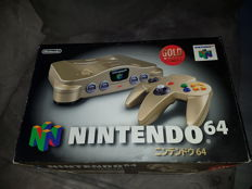 Nintendo 64 GOLD (jp) in very good shape boxed with 2 pokemon games