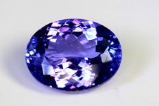 Tanzanite - 6.35 ct - Intense Violetish Blue