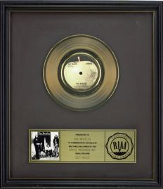 "The Beatles - Official RIAA Award - For the sale of multi million copies of ""Get back"""