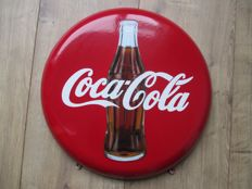 Enamel advertising sign Coca cola - ca. 1960s