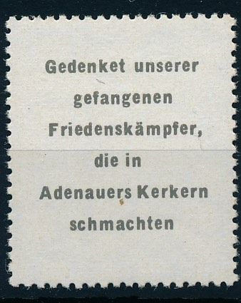 "Germany GDR - 1965 - propaganda stamp, so-called ""Adenauer stamp"", Michel no. 2 with photo expertise Zierer BPP"