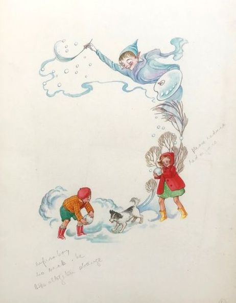 Unknown English illustrator (20th century) - Kerstvoorstelling