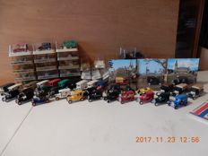 EFSI - Scale 1/63  - Lot with 37  models Ford  T  1919 & catalogue EFSI 1980s