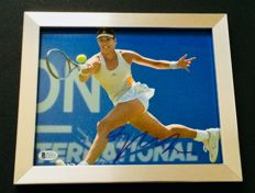 Garbine Muguruza #1 - Amazing Authentic Signed Autograph in Framed Photo ( 20x25cm ) - with Certificate of Authenticity BECKETT