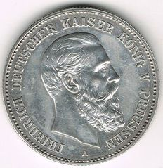German Empire, Prussia - 2 Mark 1888 A - silver