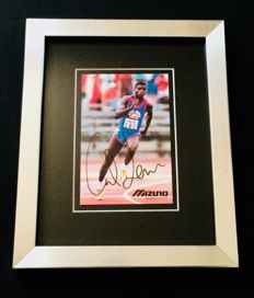 Carl Lewis - Amazing Authentic Signed Autograph in Framed Photo ( 20x25cm ) - with Certificate of Authenticity JSA